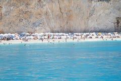 Praia de Lefkada foto de stock