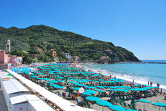 Praia de Levanto - Italy Imagens de Stock Royalty Free
