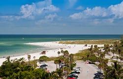 Praia de Lido em Sarasota, Florida Fotografia de Stock