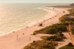 Praia de Lido na chave do Siesta imagens de stock royalty free