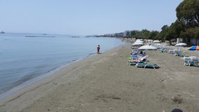 Praia de Limassol Imagem de Stock Royalty Free
