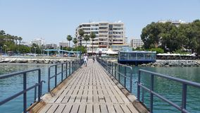 Praia de Limassol Fotos de Stock