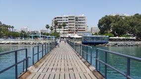 Praia de Limassol Imagens de Stock Royalty Free