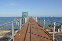 Praia de Limassol Fotos de Stock Royalty Free