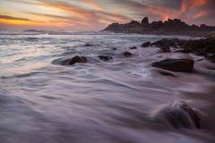 Praia de Llandudno, cidade do cabo foto de stock