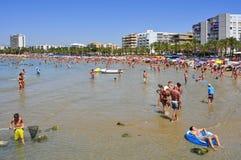 Praia de Llevant, em Salou, Spain Foto de Stock Royalty Free
