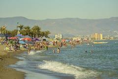 Praia de Los Alamos província em Torremolinos, Malaga, Espanha Fotos de Stock