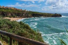 Praia de Lourenco do Sao em Ericeira Portugal Fotografia de Stock