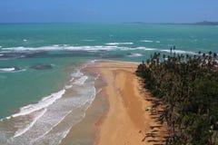 Praia de Luquillo, Luquillo Puerto Rico After Hurricane Maria Imagem de Stock