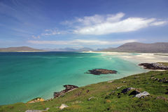 Praia de Luskentyre, ilha de Harris, Escócia fotos de stock royalty free