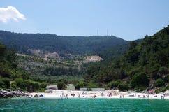 A praia de mármore Fotografia de Stock