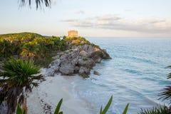 Praia de México Tulum as Caraíbas Fotografia de Stock