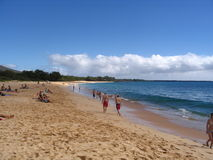 Praia de Makena/praia grande Imagens de Stock
