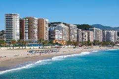 Praia de Malaga, Espanha Fotografia de Stock