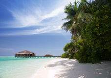 Praia de Maldives foto de stock royalty free