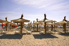 Praia de Mamaia no Mar Negro Imagens de Stock Royalty Free