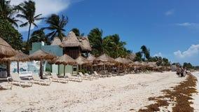 Praia de Mamitas em México fotografia de stock royalty free