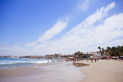 Praia de Mancora, Peru fotografia de stock royalty free