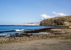 Praia de março da palma Fotos de Stock Royalty Free