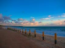 Praia de Maracaipe no por do sol Fotos de Stock Royalty Free