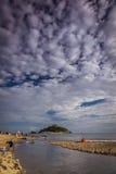 Praia de Marazion fotos de stock