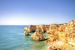 Praia de Marinha in the Algarve Portugal Stock Photography