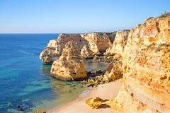 Praia de Marinha in the Algarve Portugal Royalty Free Stock Photos