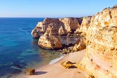 Praia de Marinha in the Algarve Portugal Stock Photography