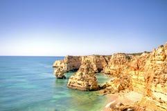 Praia de Marinha dans l'Algarve Portugal Photographie stock