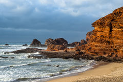Praia de Marrocos Legzira Imagens de Stock