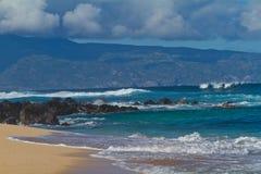 Praia de Maui Havaí Fotos de Stock