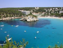 Praia de Menorca - Cala Galdana Foto de Stock