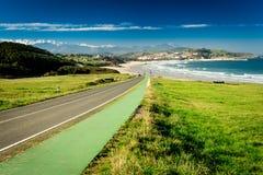 Praia de Meron San Vicente de la Barquera Imagens de Stock
