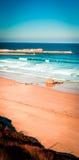 Praia de Meron San Vicente de la Barquera Fotos de Stock Royalty Free