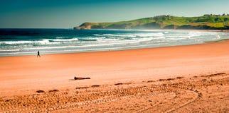 Praia de Meron San Vicente de la Barquera Fotografia de Stock