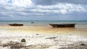 Praia de Michamvi, Zanzibar fotografia de stock royalty free
