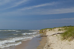 Praia de Michigan de lago Imagens de Stock Royalty Free