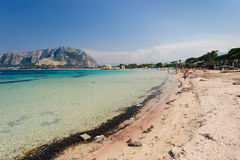 Praia de Mondello fotos de stock
