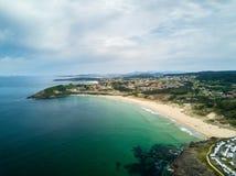 Praia de Montalvo no Rias Baixas em Pontevedra Imagem de Stock Royalty Free