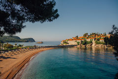 Praia de Montenegro na costa de mar do adriático Imagem de Stock Royalty Free