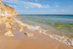 Praia De Mos beach , Lagos, Algarve, Portugal. Stock Images