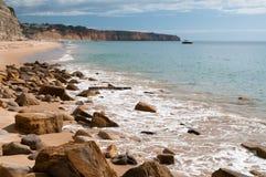 Praia de Mos near Lagos in Portugal Royalty Free Stock Photos