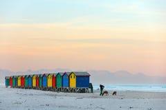 Praia de Muizenberg imagem de stock royalty free