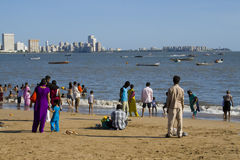 Praia de Mumbay Fotografia de Stock Royalty Free