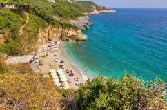 Praia de Mylopotamos, Pelio, Greece Imagem de Stock Royalty Free