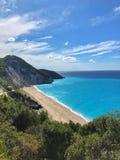 Praia de Mylos imagem de stock