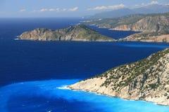 Praia de Myrtos Imagem de Stock Royalty Free