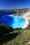 Praia de Myrtos Foto de Stock Royalty Free