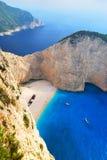 Praia de Navagio Imagens de Stock