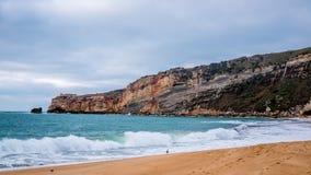 Praia de Nazare imagem de stock